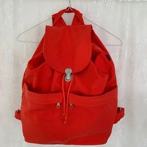 BAGGU Canvas Backpack w/drawstring